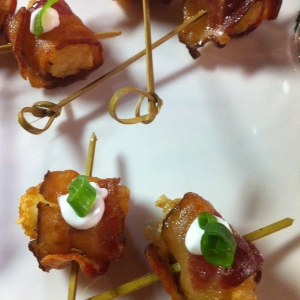 Bacon Wrapped Potato Barrel