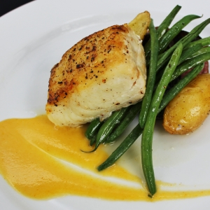 Plated Halibut Entree