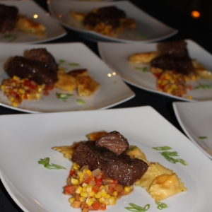 Plated Bison Entree